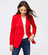 LOFT Twill Double Breasted Blazer