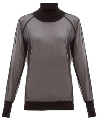 Wolford Tony Roll-neck Tulle Sweater - Black