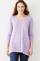 J. Jill Color-Washed Dipped-Hem Tunic