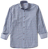 Visconti Stripe Coupe Long-Sleeve Woven Shirt