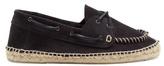 Manebi Hamptons suede deck shoes