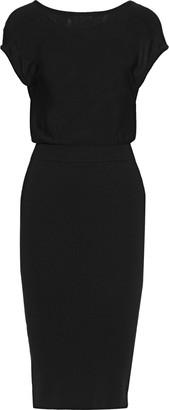 Alice + Olivia Shara Twist-back Cutout Wool-blend Dress