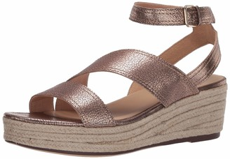 Naturalizer Womens Ursa Dusty Rose Ankle Straps 10 W