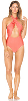 MinkPink Just Peachy One Piece Swimsuit in Peach. - size XS (also in )