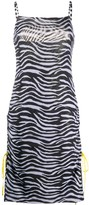 STAUD Zebra Print Slip Dress