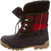 DSQUARED2 Leather-Trimmed Snow Boots