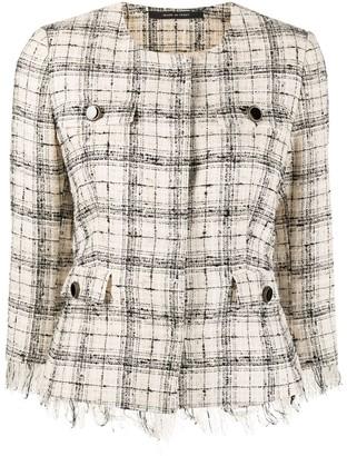 Tagliatore Meg checked tweed jacket