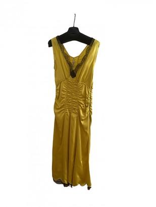 Prada Yellow Silk Dresses