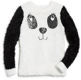 Design History Girls' Panda Face Sweater - Sizes 2-6X