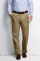 Lands' End Men's Pre-hemmed Comfort Waist Casual Chino Pants-Antique Beige
