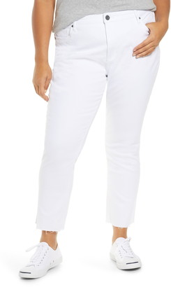 KUT from the Kloth Reese High Waist Fray Hem Ankle Jeans