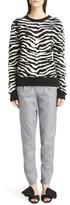 Saint Laurent Women's Tiger Knit Sweater