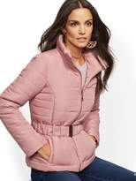 New York & Co. Belted Puffer Jacket