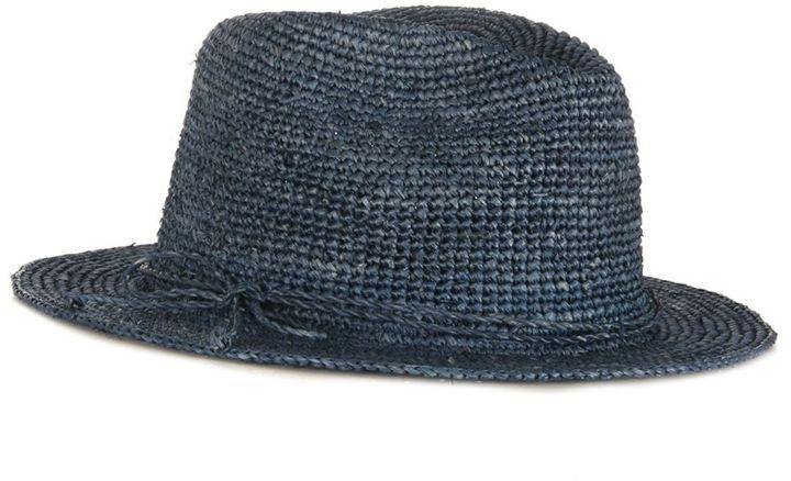 Hat Attack Raffia Crochet Fedora