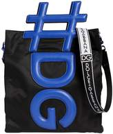 Dolce & Gabbana Hashtag Handle Nylon Tote Bag