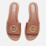 MICHAEL Michael Kors Women's Brynn Leather Slide Sandals