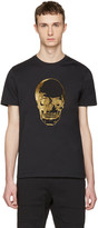 Markus Lupfer Black and Gold Skull T-shirt