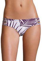 Mikoh Swimwear Velzyland Palm Leaf Print Bikini Bottom