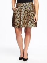 Old Navy Metallic Jacquard Plus-Size Skirt