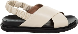 Marni Cross Strap Slingback Sandals