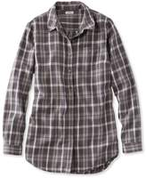 L.L. Bean Washed Twill Tunic, Long-Sleeve Plaid