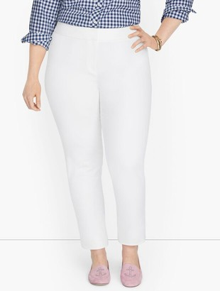 Talbots Plus Exclusive Chatham Fly Front Ankle Pants - Solid