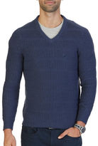 Nautica Knitted V-Neck Sweater