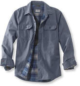 L.L. Bean Flannel-Lined Allagash Shirt Jacket, Slightly Fitted