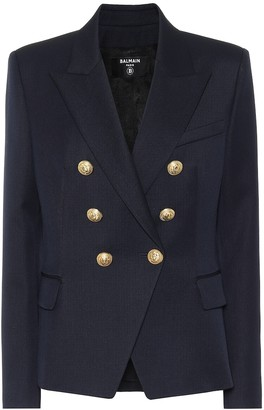 Balmain Double-breasted virgin wool blazer