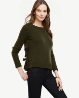 Ann Taylor Wool Cashmere Side Tie Sweater