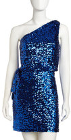 Aidan Mattox One-shoulder Sequin Dress