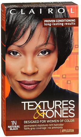 Clairol Textures & Tones Permanent Haircolor Natural Black 1N