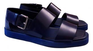 Prada Blue Leather Sandals