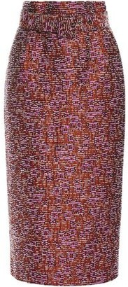 Antonio Berardi Belted Boucle-tweed Midi Pencil Skirt