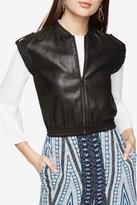 BCBGMAXAZRIA Faux Leather Vest