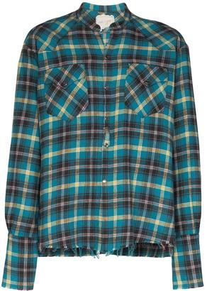 Greg Lauren Plaid Pattern Shirt