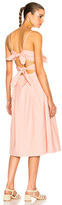 Sea Tie Front Cutout Dress in Pink.