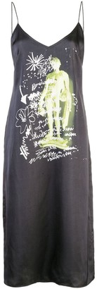 Proenza Schouler White Label Sketch Print Slip Dress
