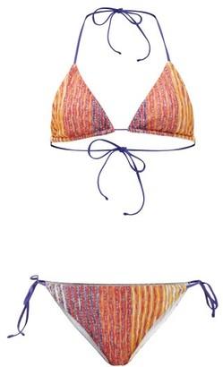 Missoni Mare Striped Lurex-jacquard Bikini - Red Multi