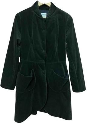 Armani Collezioni Green Velvet Coat for Women