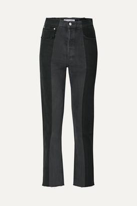 E.L.V. Denim - The Twin Two-tone High-rise Straight-leg Jeans - Black