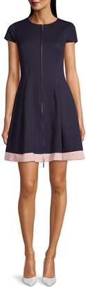 Eliza J Bubbleknit Short-Sleeve Dress