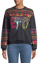 Etro Embroidered Logo Sweatshirt w/ Ribbon Background