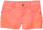 Crazy 8 Neon Crochet Trim Shorts
