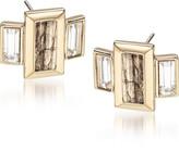 Brahmin Emerald Cut Crystal Earrings Fairhaven