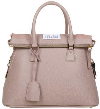 Maison Margiela Handbag 5ac In Calf Leather Color Pink Pipe