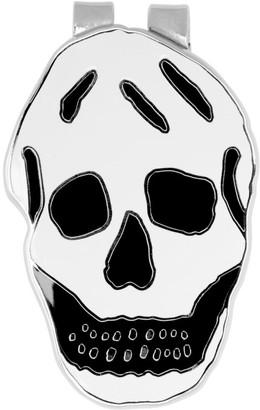 Alexander McQueen White and Black Skull Money Clip