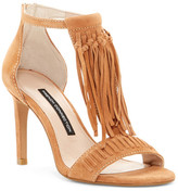 French Connection Lilyana Fringe T-Strap Sandal
