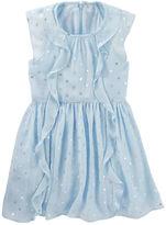 Osh Kosh Chiffon Foil Print Dress