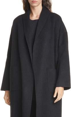 Eileen Fisher Shawl Collar Wool & Cashmere Coat